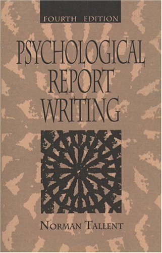 9780137203192: Psychological Report Writing