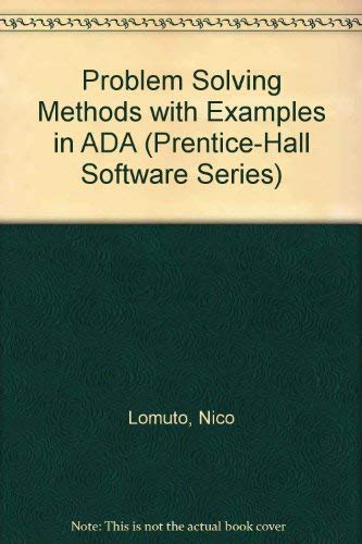 9780137213252: Problem Solving Methods With Examples in Ada (Prentice-Hall Software Series)