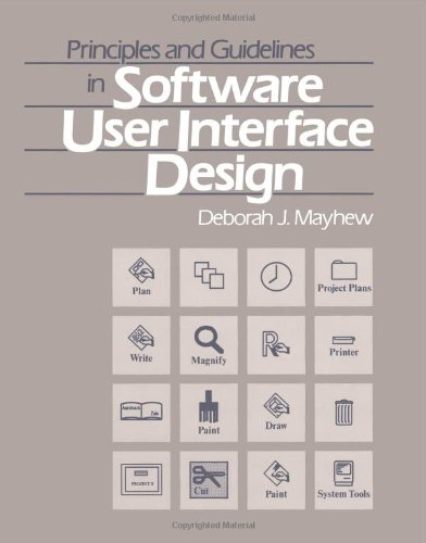 9780137219292: Principles and Guidelines in Software User Interface Design