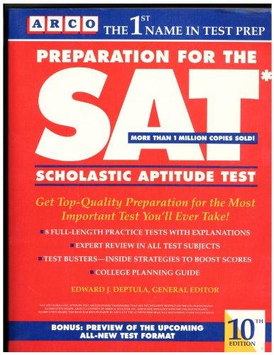 9780137222087: Preparation for the Sat: Scholastic Aptitude Test (Arco Academic Test Preparation)