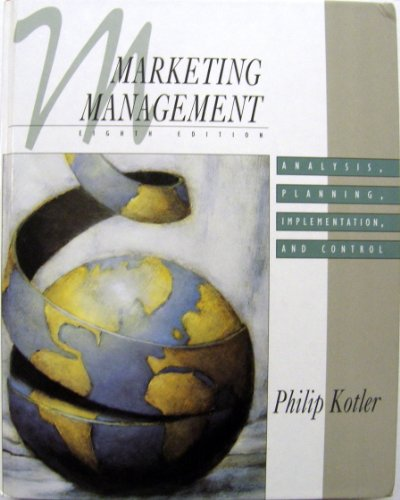 9780137228515: Marketing Management: Analysis, Planning, Implementation, and Control (The Prentice-Hall Series in Marketing)