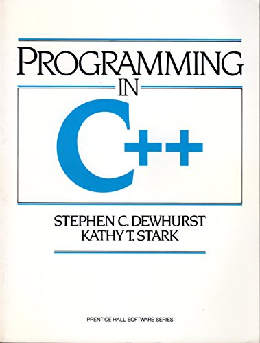 9780137231560: Programming in C++ (Prentice Hall Software)