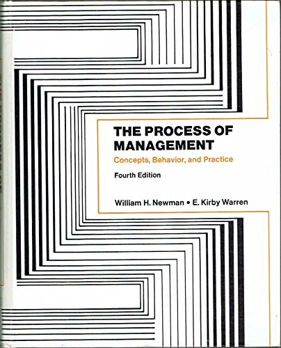 9780137234295: Process of Management: Concepts, Behaviour and Practice