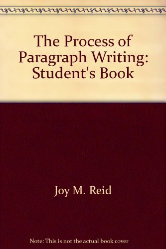 9780137235292: The Process of Paragraph Writing