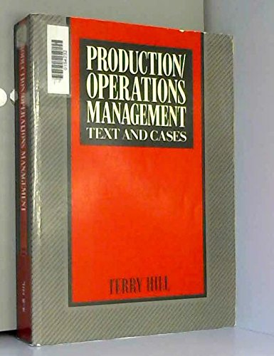 9780137237272: Production/Operations Management: Text and Cases