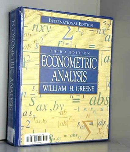 9780137246595: Econometric Analysis (Prentice Hall international editions)