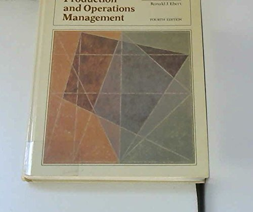 Production and Operations Management: Concepts, Models and: Adam, Everett E.,