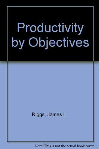 9780137253746: Productivity by Objectives