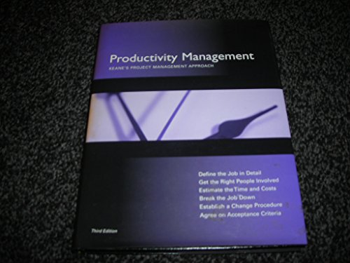 9780137253838: Productivity Management in the Development of Computer Applications