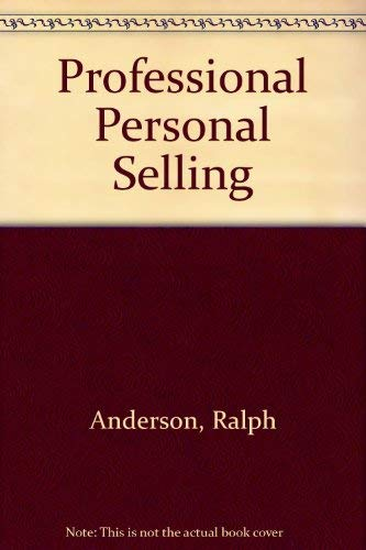 9780137256150: Professional Personal Selling