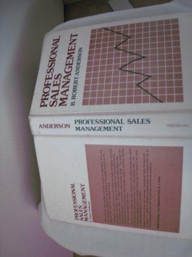 9780137258796: Professional Sales Management