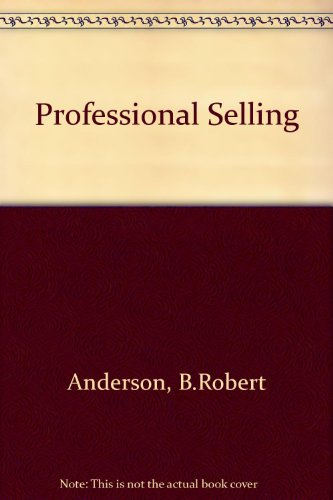 9780137259373: Professional Selling