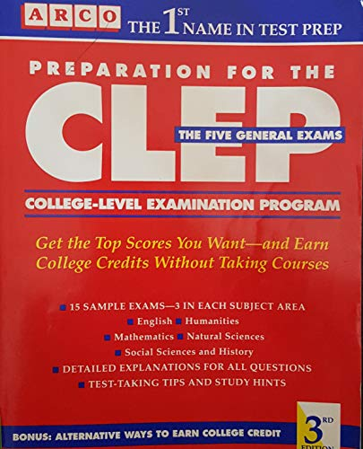 Preparation for the CLEP, College-Level Examination Program: The 5 general examinations (Arco Master the CLEP) (0137268297) by Leo Lieberman; Richard Ferdinand Heller; Nancy Woloch