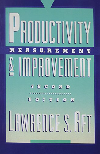 9780137287598: Productivity Measurement and Improvement