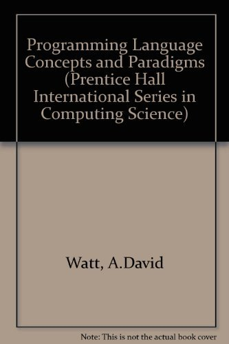 9780137288748: Programming Language Concepts and Paradigms (Prentice-Hall International Series in Computer Science)
