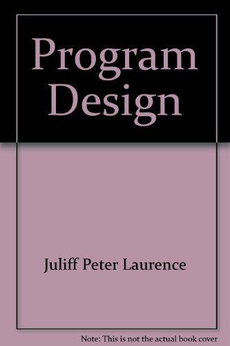 9780137290130: Program design