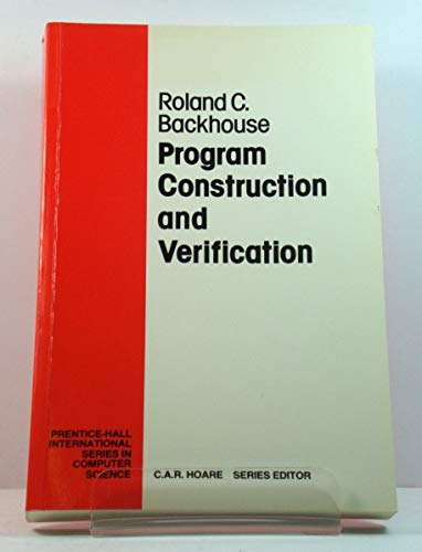 9780137291465: Program Construction and Verification