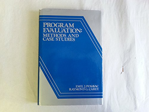 9780137296651: Programme Evaluation: Methods and Case Studies