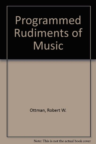 9780137299621: Programmed Rudiments of Music