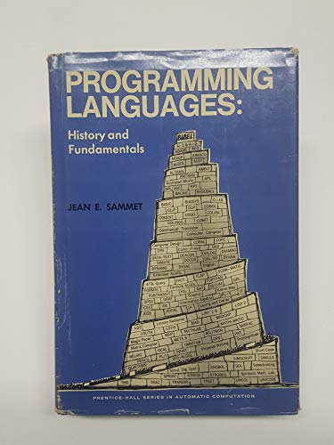 9780137299881: Programming Languages: History and Fundamentals (Automatic Computation)