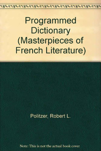 9780137300440: Programmed Dictionary for Masterpieces of French Literature