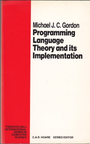 9780137304097: Programming Language Theory and Its Implementation (Prentice Hall Series in Computer Science)