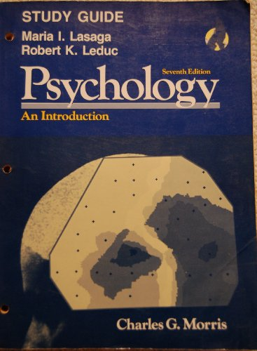9780137321162: Study guide [for] Psychology, an introduction