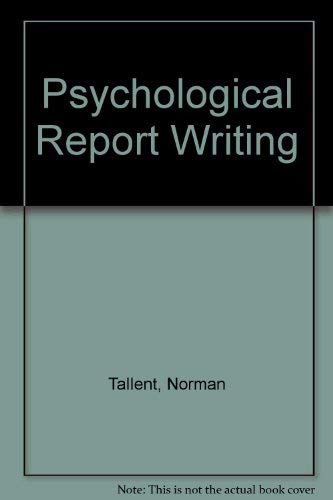 9780137325115: Psychological Report Writing