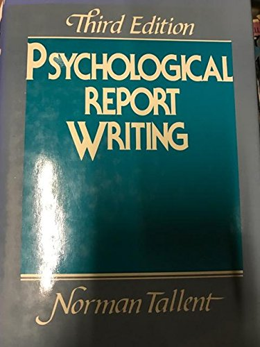 9780137325535: Psychological Report Writing
