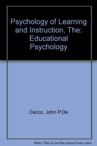 The Psychology of Learning and Instruction : William R. Crawford;