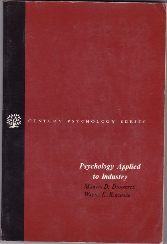9780137332533: Psychology applied to industry