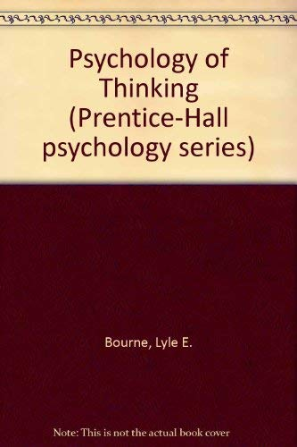 9780137367023: Psychology of Thinking (Prentice-Hall psychology series)