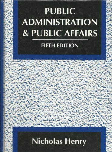 9780137375608: Public Administration and Public Affairs