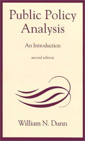 9780137385508: Public Policy Analysis: An Introduction