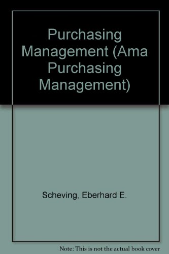 9780137420407: Purchasing Management (Ama Purchasing Management)