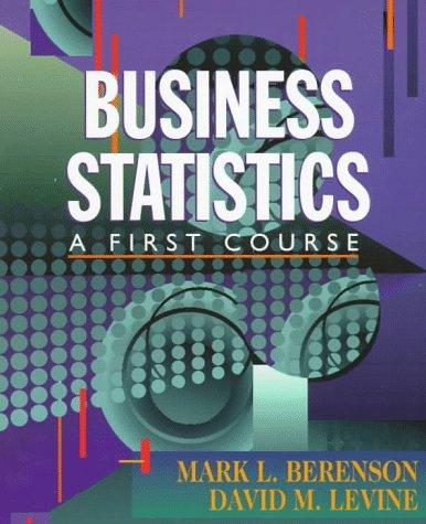 9780137441785: Business Statistics: A First Course