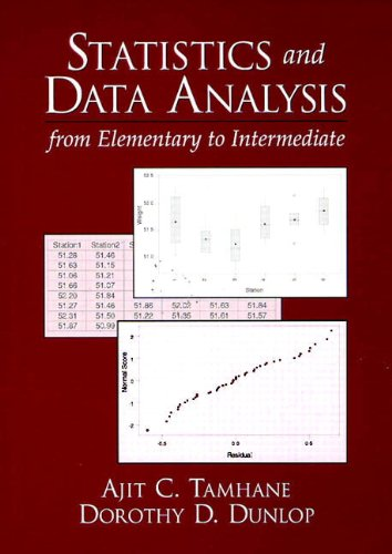 Statistics and Data Analysis: From Elementary to Intermediate: Ajit C. Tamhane; Dorothy D. Dunlop