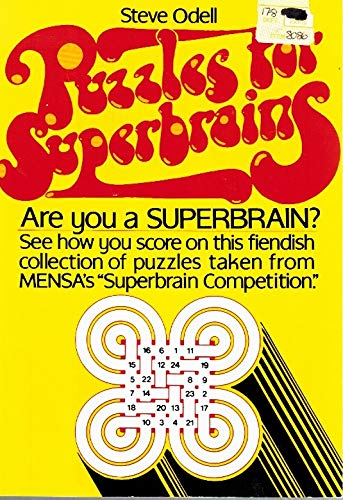 9780137446803: Puzzles for Superbrains: A Personal Selection of Old and New Puzzles Compiled with the Held of Mensa (Reward Book)