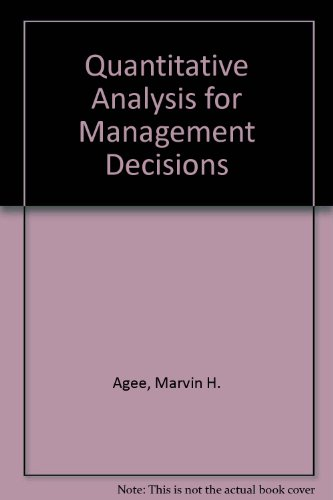 9780137465118: Quantitative Analysis for Management Decisions