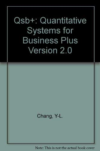 9780137471713: Qsb+: Quantitative Systems for Business Plus Version 2.0
