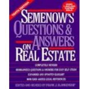 9780137475933: Semenow's Questions and Answers on Real Estate