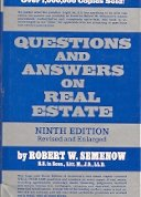 9780137492183: Questions and answers on real estate