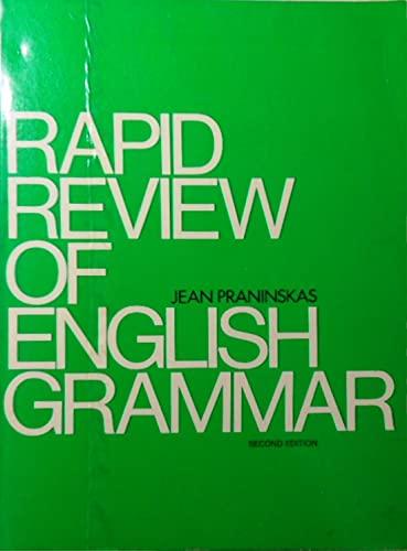 Rapid Review of English Grammar: A Text: Praninskas, Jean