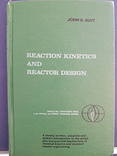9780137533350: Reaction Kinetics and Reactor Design (Prentice-Hall international series in the physical and chemical engineering sciences)