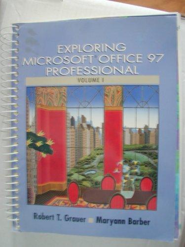 9780137542437: Exploring Microsoft Office 97 Professional, Volume I (Sub to 8133D)
