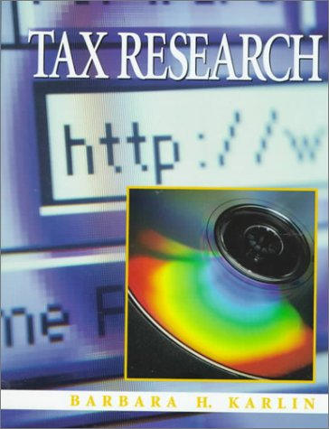 9780137556533: Tax Research