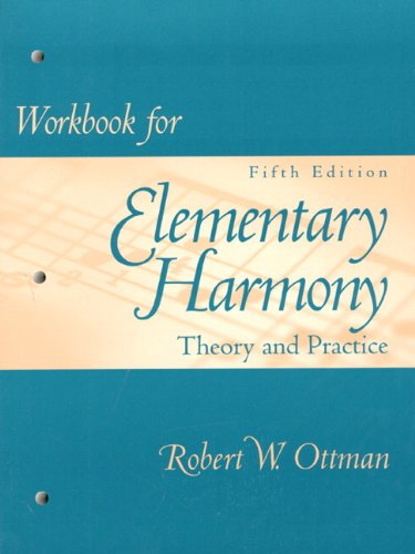 9780137576913: Workbook for Elementary Harmony: Theory and Practice