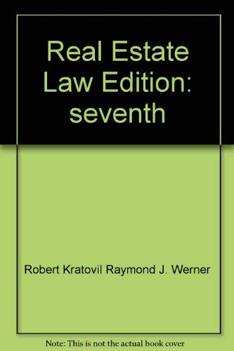 9780137632688: Real Estate Law Edition: seventh
