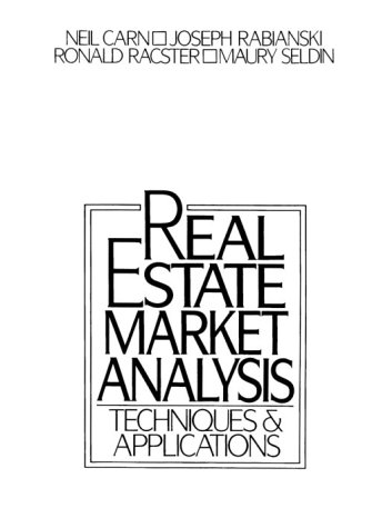 9780137633685: Real Estate Market Analysis: Techniques and Applications