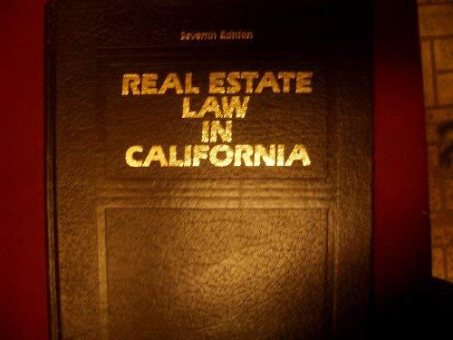 9780137640850: Real estate law in California